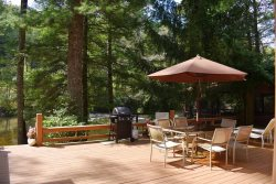 RIVERDANCE:  3BR/2BA Cabin On The Toccoa River, Gazebo Overlooking The Toccoa River, Gas Grill, Hot Tub, Gas Log Fireplace, Fire Pit, NO PETS, NO SMOKING, Sleeps 7, Starting At $132 a night!