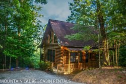 3 BEARS LODGE- 2BR/1.5BA, Sleeps 4, Beautiful Mountain View, Gas Log Fireplace, WIFI, Hot Tub on Screened Porch, Gas Grill, and a Foosball Table! Starting at $79/night!