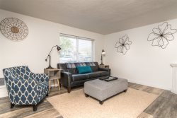 Newly remodeled, professionally decorated, East side apartment
