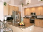 Large Gourmet Kitchen with Granite Counters