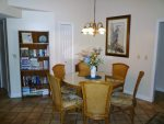 Dining Room with Book Case