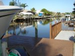 Boat Dock on Gulf Access Canal