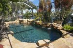 Pool and Spa with Tropical Landscaping