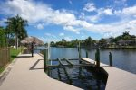 Boat Dock with Tiki Hut and Lift