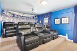 Play foosball or air hockey, or relax on the comfortable couch and watch TV
