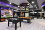 This games room will have enough space for the entire family to enjoy some friendly competition