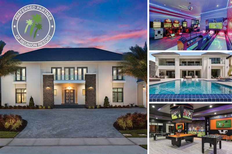 The White House At Reunion | 12,982 Sq. Ft. Villa With The Largest South  Facing Infinity Pool In Reunion, Private Theater, Fitness Room, Games U0026  Sports Bar