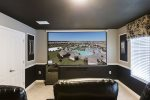 12 ft projection style screen in the movie theater room