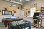 Play a variety of arcade games in this fun games room