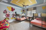 The kids will love this fun bedroom with two twin/full bunk beds