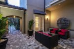 This relaxing private courtyard provides another place to enjoy family time