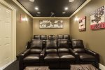 Private home theater with seating for 9