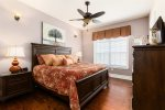 Aloha Hawaiian beach-themed upstairs bedroom 5 opens out onto its own private balcony