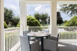Enjoy meals outside with this table that seats 4