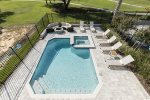 You will have plenty of spacious out on the pool deck