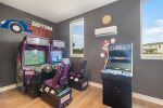 Race against your family members on the arcade racing games or play on the multiarcade game system