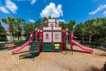 The kids will love their own castle to play on in the community playground