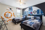 One of a kind kids bedroom with 2 twin beds