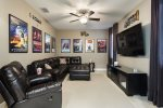 Enjoy a great movie in the Hollywood themed theater room located on the ground floor