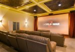 The cinema room comfortably seats 20