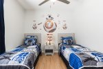 Kids bedroom with wall decor