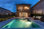 Step out onto your south facing pool deck