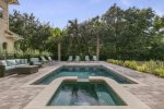 Enjoy meals al fresco out by your gorgeous pool