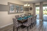 Formal dining table with seating for 6