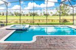 Take a dip in your private pool that backs up to the resort golf course