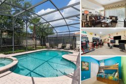 Windsor Retreat | 3 Bed Home with Private Pool & Spa, Games Room, Theater Room, Kids Bedroom & More
