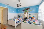 The kids will love hanging out in this bedroom