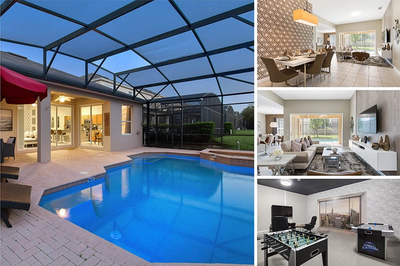 Contemporary Magic | 5 Bed Villa Furnished May 2017 With West Facing Pool  And Spa, Game Room, Kids Bedrooms