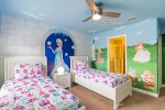 The second custom kids bedroom with two twin beds