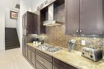 The chef of the party will enjoy the large fully equipped kitchen.