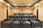 Theater room that seats 8.