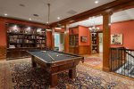 The 100-year-old Brunswick pool table is perfect for a little friendly competition