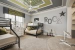 Let the kids rock out in their own bedroom feature two twin over full bunk bed