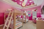 With two twin/twin bunk beds, kids are sure to have a sweet time in Bedroom 10