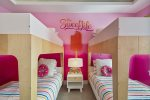 The ensuite or en-sweet bathroom for the kids
