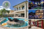 The Magic Villa at Reunion | 9 Bed, 9 Bath, Pool, Spa & Lazy River, 2 Games Room, Theater Room, Secret Playroom With Talking Portraits, Wizardry and Princess Castle Themed Kids Rooms
