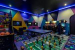 The whole family will be entertained in this games room