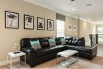 A comfortable leather sectional for you to enjoy