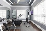 There is a SMART TV for entertainment during your workout