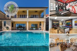 Muirfield Villa | Luxury 5,888 Sq. Ft., 6 Bed Villa with Infinity-Edge Saltwater Pool, Games Room, Theater Room, Luxury Furnishing & Golf Course Views
