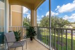 Enjoy the Florida breeze in the screened-in balcony