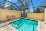 Screened in pool with high walls add to your privacy