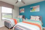 Fun and bright colors in the second kids bedroom