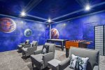 Play all day in this cool themed game room