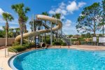 The kids will love sliding down their own pool slide all day at the community pool