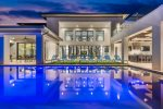 Take a dip, enjoy a cocktail, or float under the stars in the lavish pool area